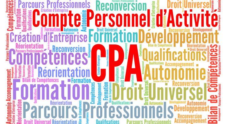 CPA, compte personnel d'activit nuage de mots